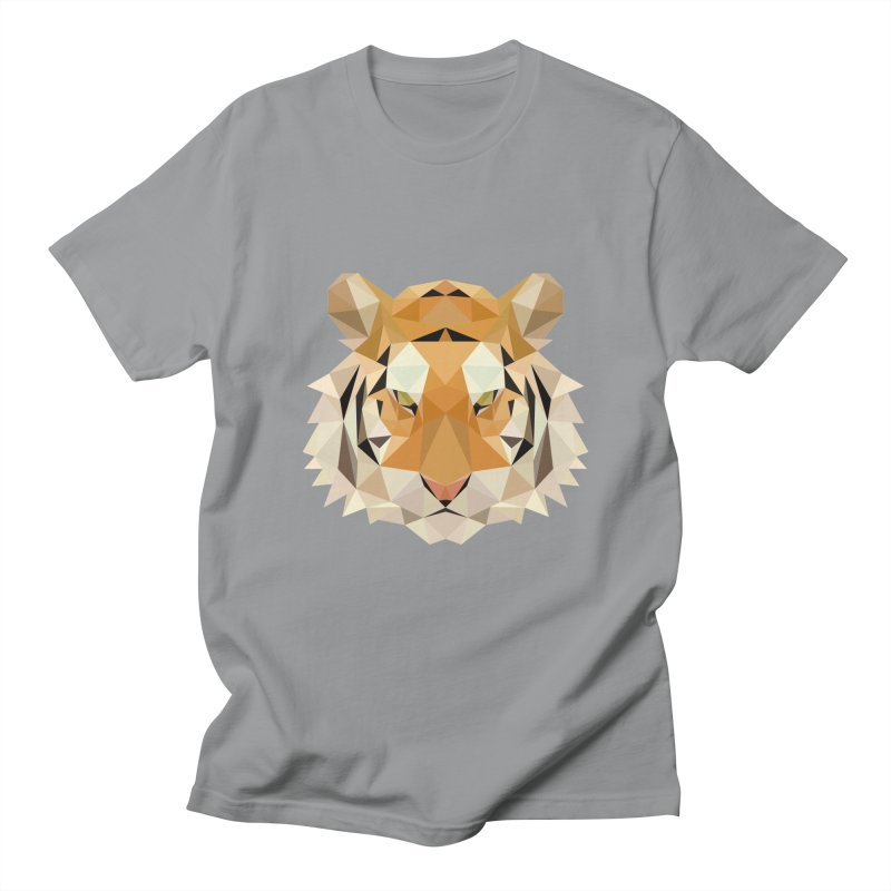 Low poly tiger Men's Regular T-Shirt by Origami Studio