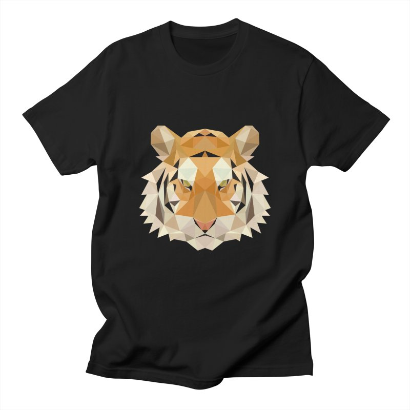 Low poly tiger Women's Regular Unisex T-Shirt by Origami Studio