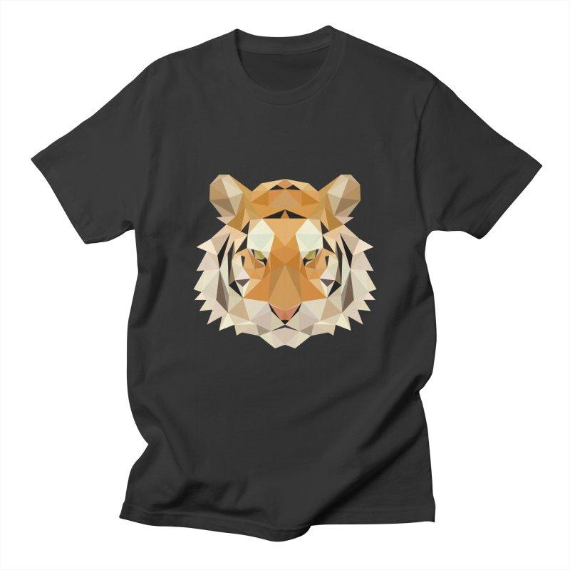 Low poly tiger Men's Regular T-Shirt by Origami Studio