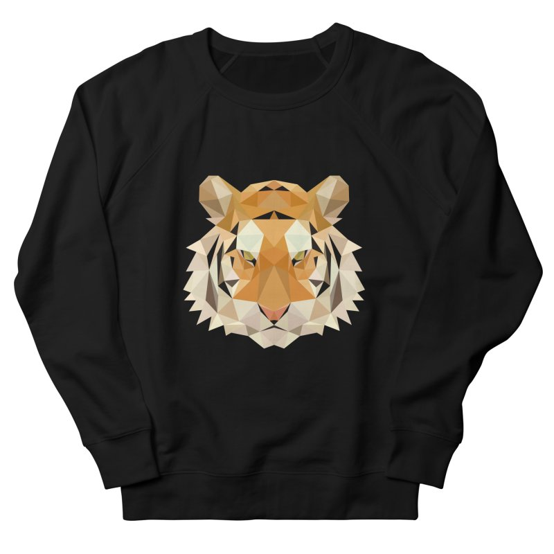 Low poly tiger Women's French Terry Sweatshirt by Origami Studio