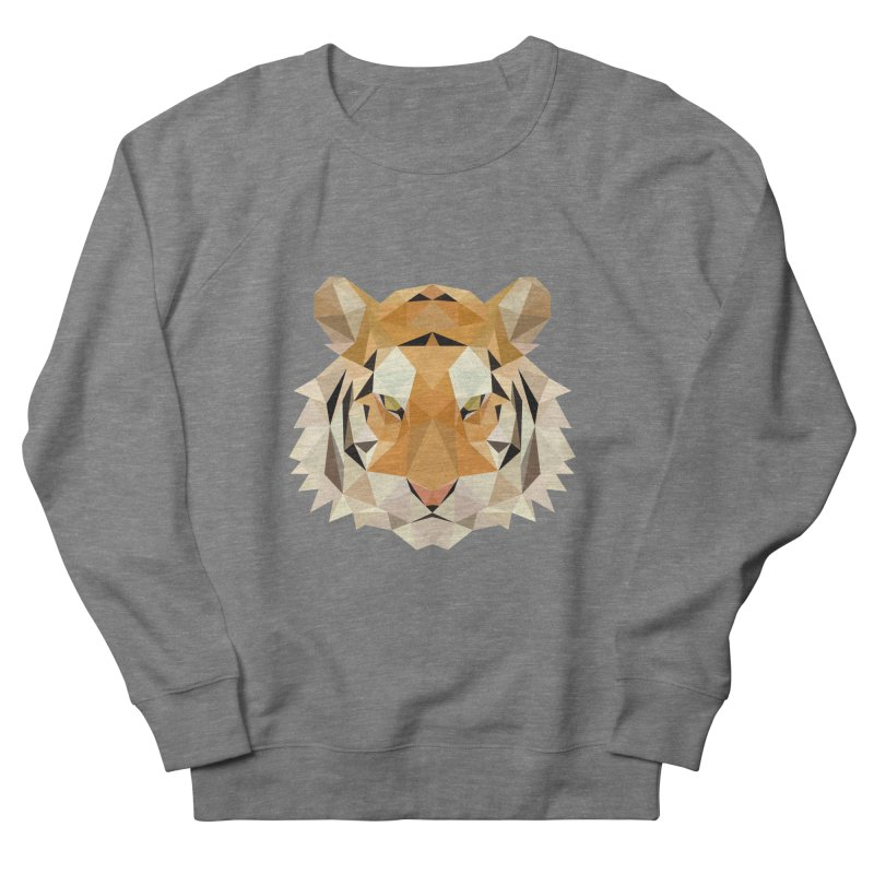 Low poly tiger Men's French Terry Sweatshirt by Origami Studio
