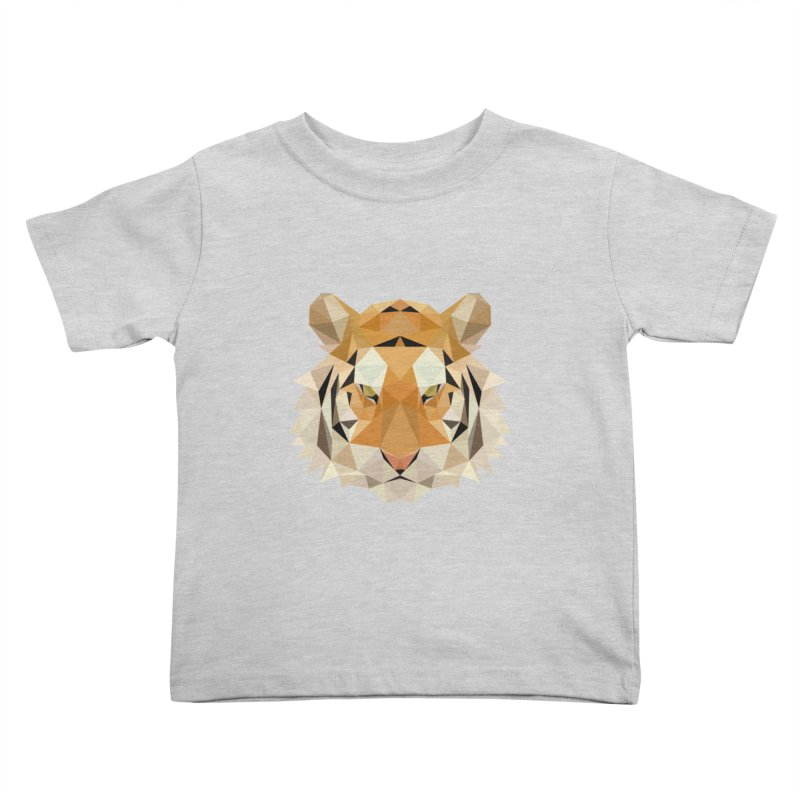 Low poly tiger Kids Toddler T-Shirt by Origami Studio