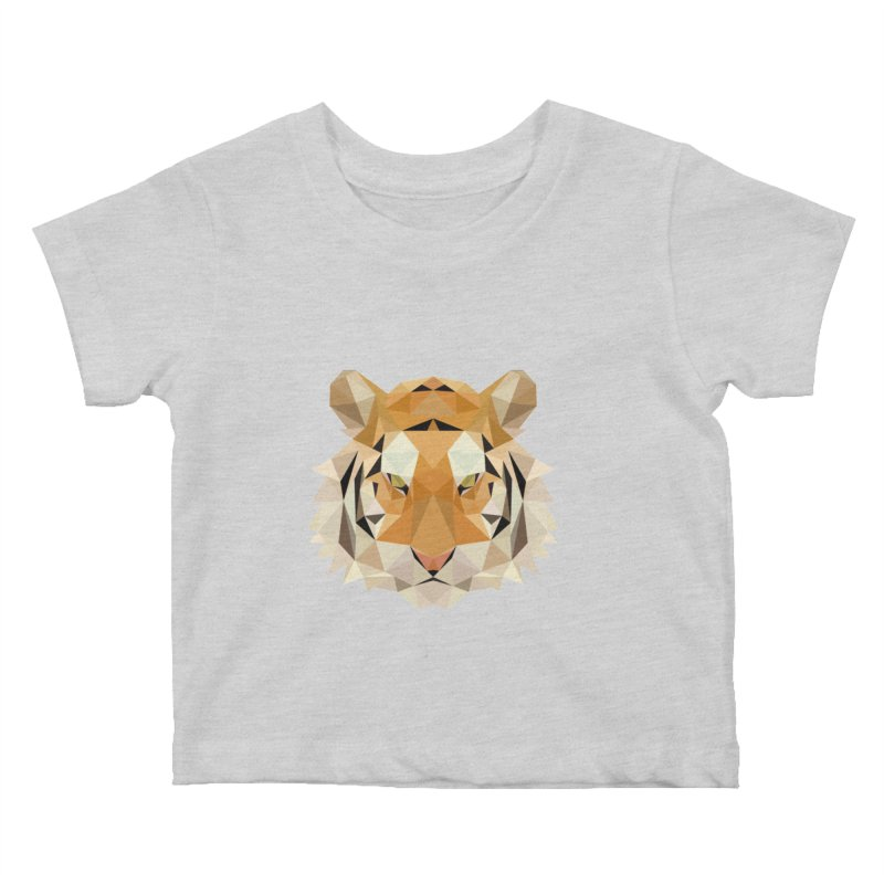 Low poly tiger Kids Baby T-Shirt by Origami Studio