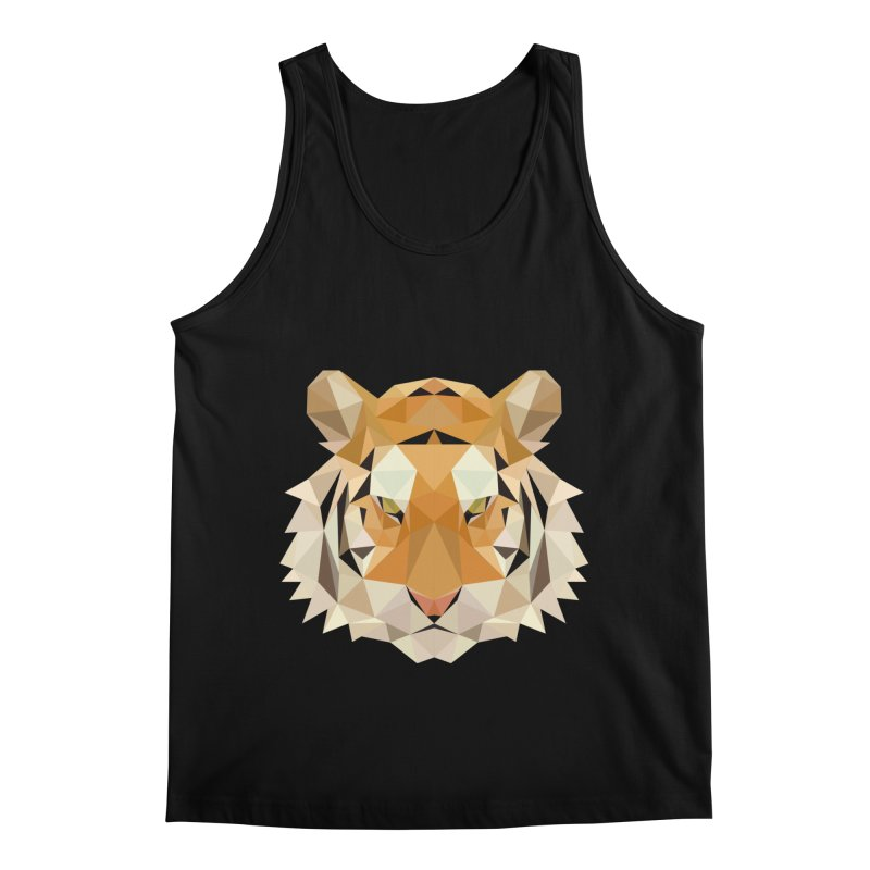Low poly tiger Men's Regular Tank by Origami Studio