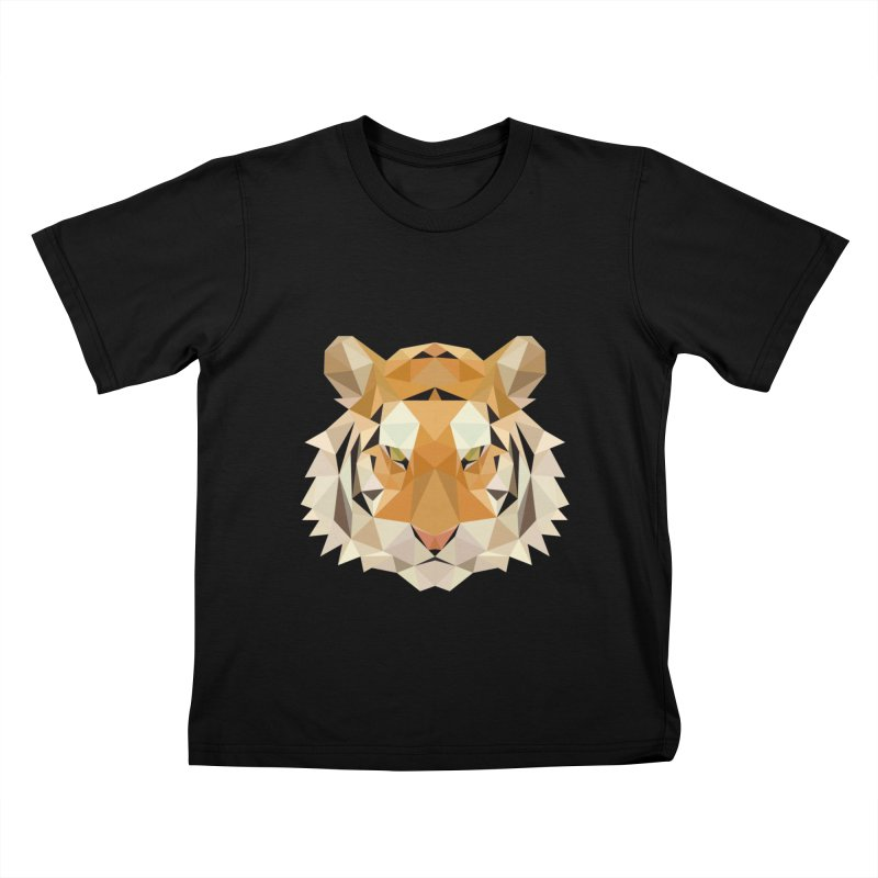 Low poly tiger Kids T-Shirt by Origami Studio