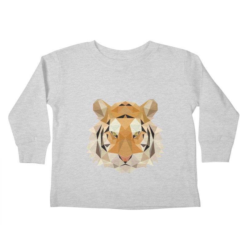 Low poly tiger Kids Toddler Longsleeve T-Shirt by Origami Studio