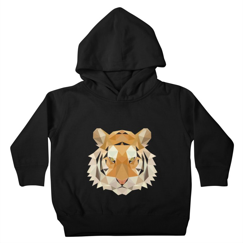 Low poly tiger Kids Toddler Pullover Hoody by Origami Studio