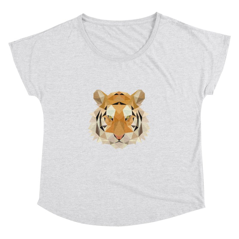Low poly tiger Women's Dolman Scoop Neck by Origami Studio