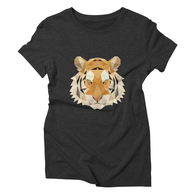 Low poly tiger Women's Triblend T-Shirt by Origami Studio
