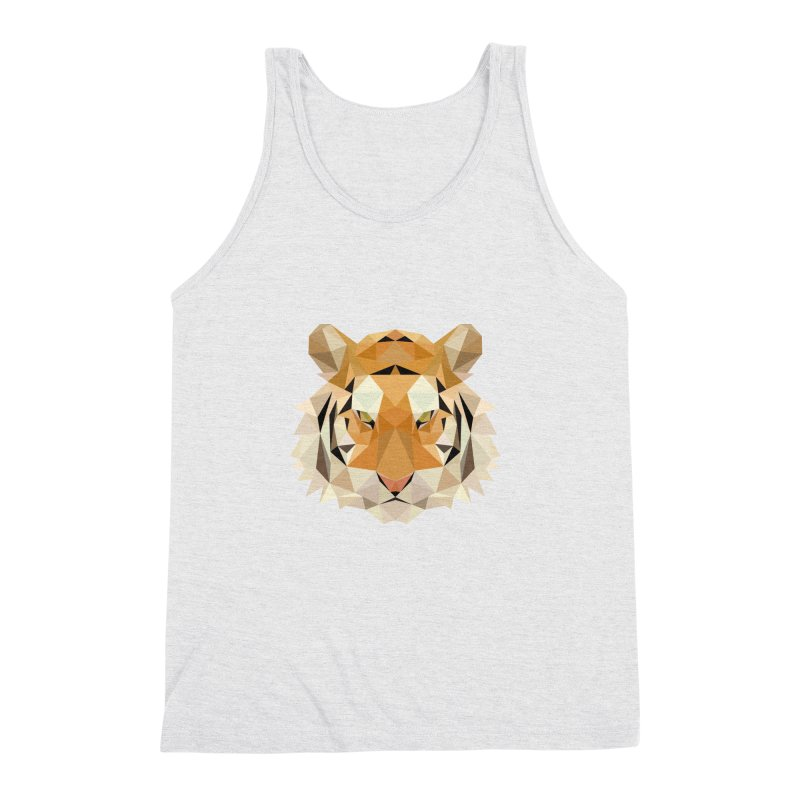Low poly tiger Men's Triblend Tank by Origami Studio