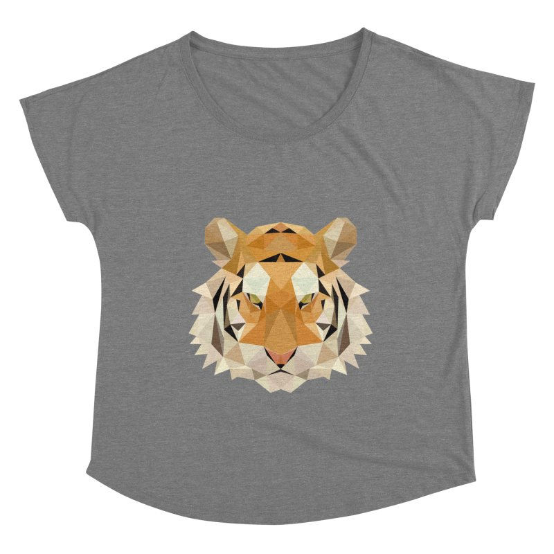Low poly tiger Women's Scoop Neck by Origami Studio