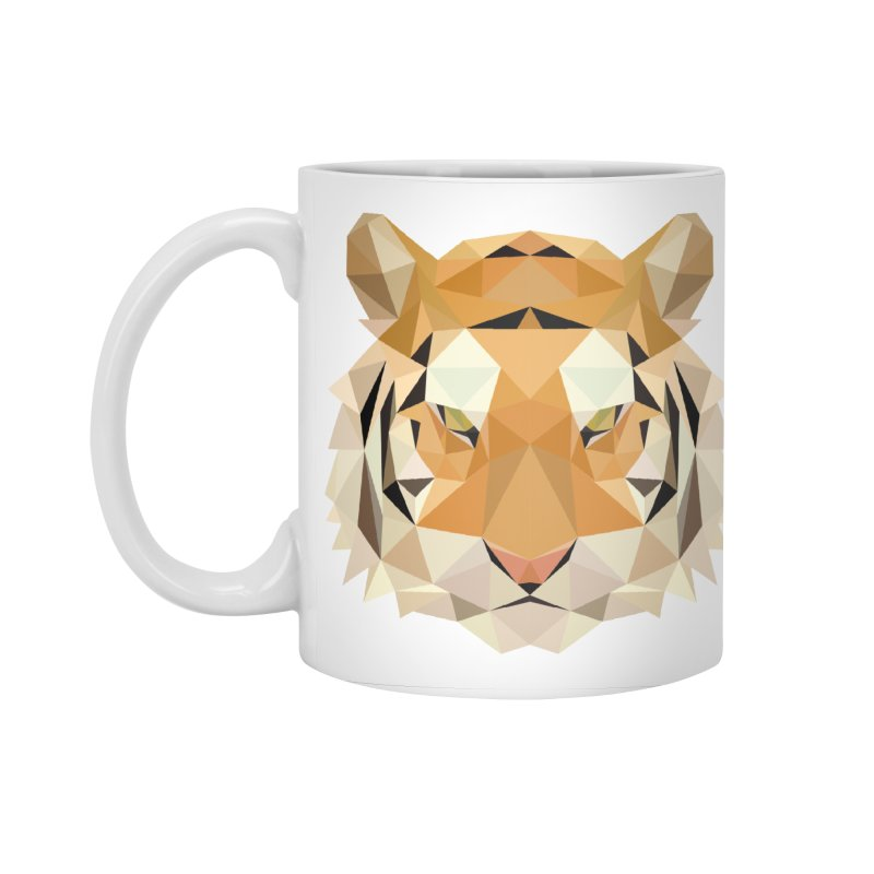 Low poly tiger Accessories Standard Mug by Origami Studio