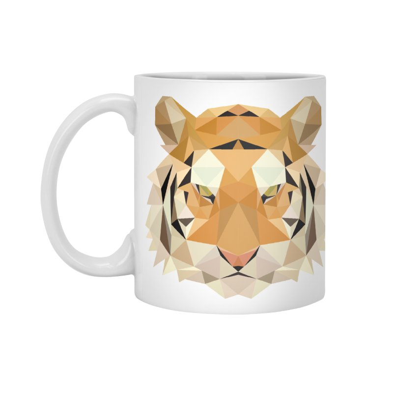 Low poly tiger Accessories Mug by Origami Studio