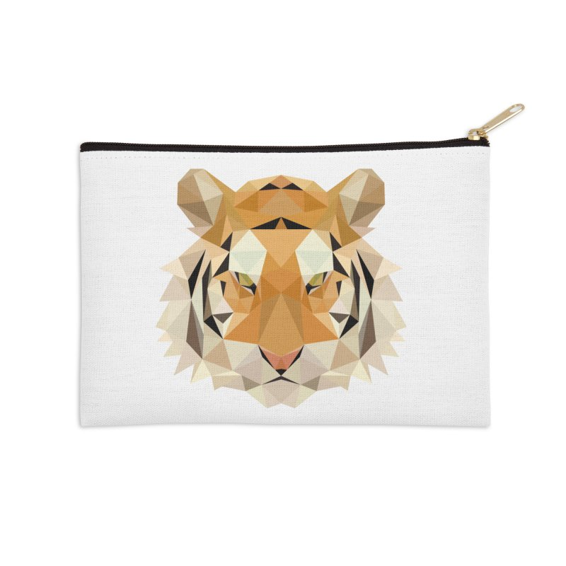 Low poly tiger Accessories Zip Pouch by Origami Studio