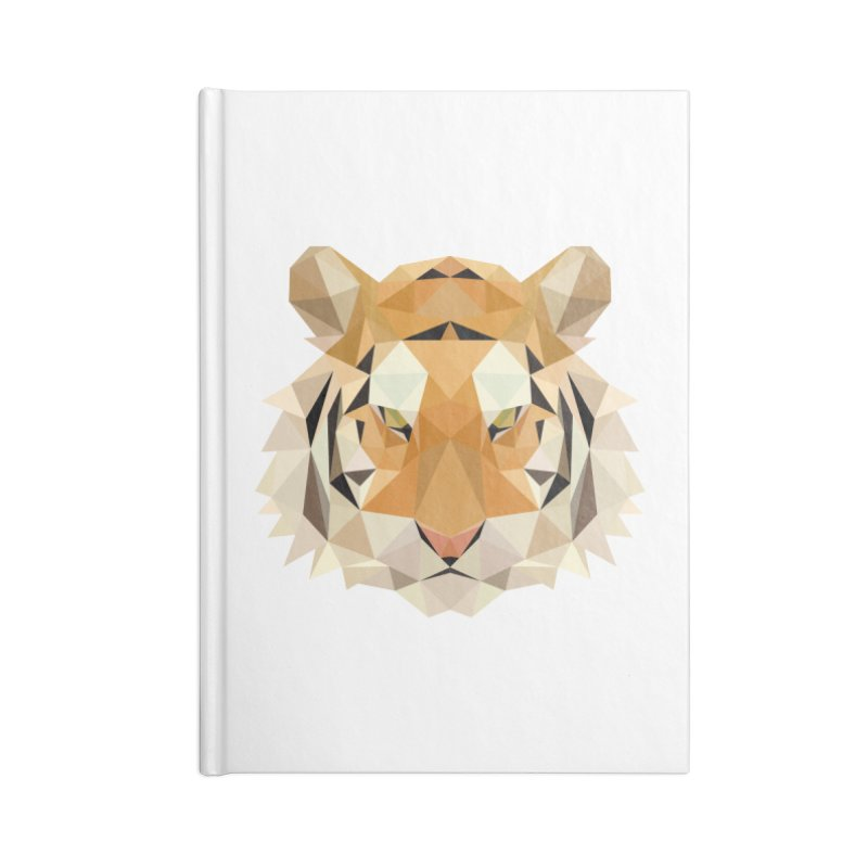 Low poly tiger Accessories Blank Journal Notebook by Origami Studio