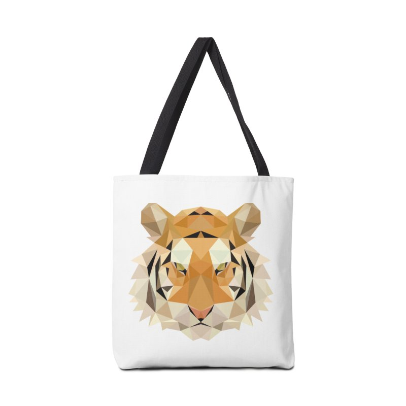 Low poly tiger Accessories Tote Bag Bag by Origami Studio