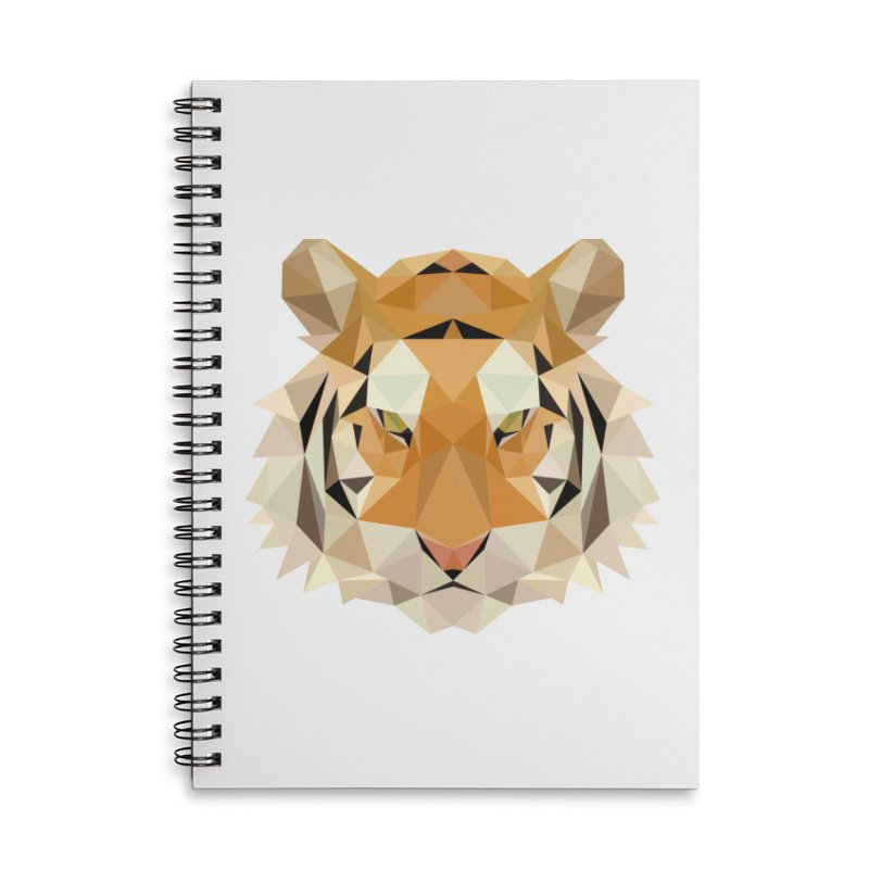 Low poly tiger Accessories Lined Spiral Notebook by Origami Studio