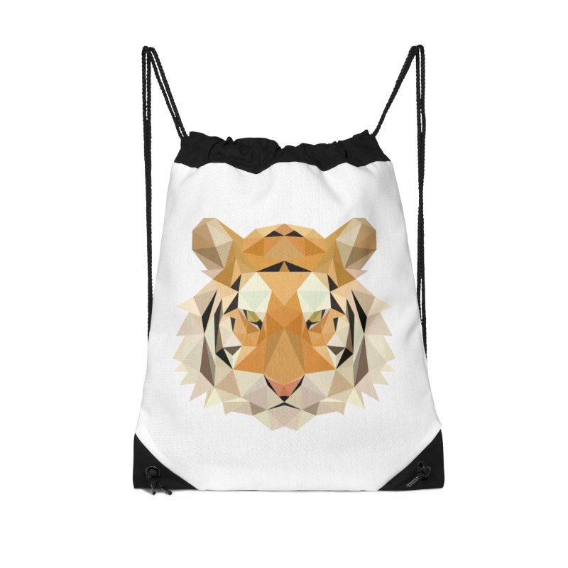 Low poly tiger Accessories Drawstring Bag Bag by Origami Studio