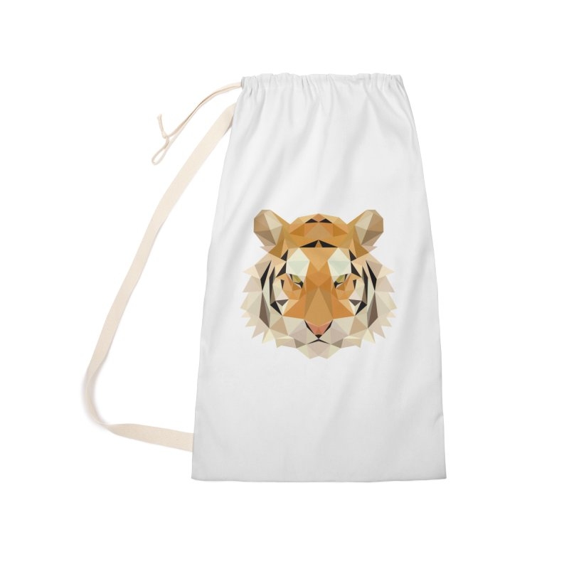 Low poly tiger Accessories Laundry Bag Bag by Origami Studio