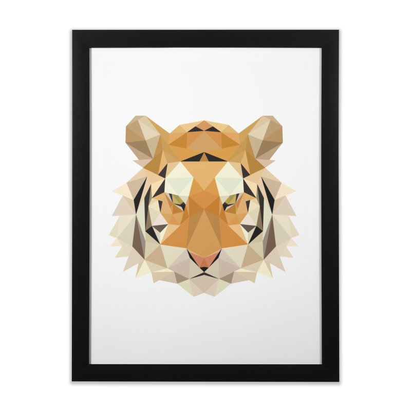 Low poly tiger Home Framed Fine Art Print by Origami Studio