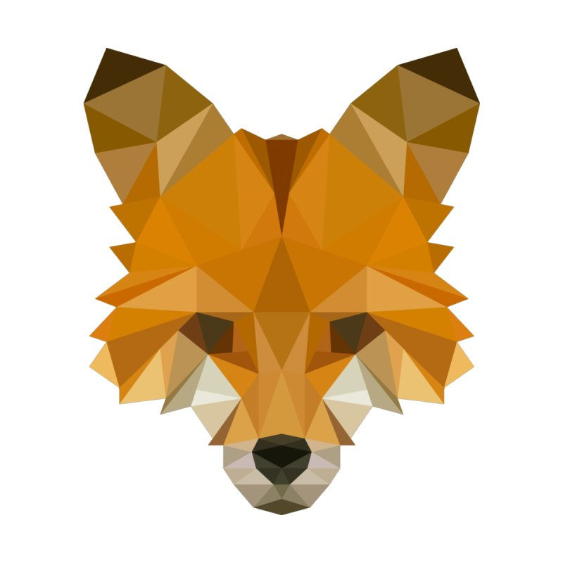 Low poly fox by Origami Studio