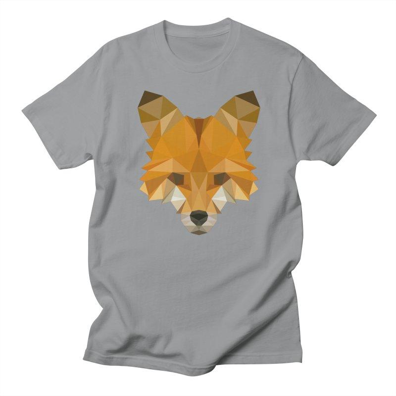 Low poly fox Women's Regular Unisex T-Shirt by Origami Studio