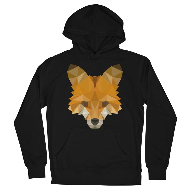 Low poly fox Men's French Terry Pullover Hoody by Origami Studio