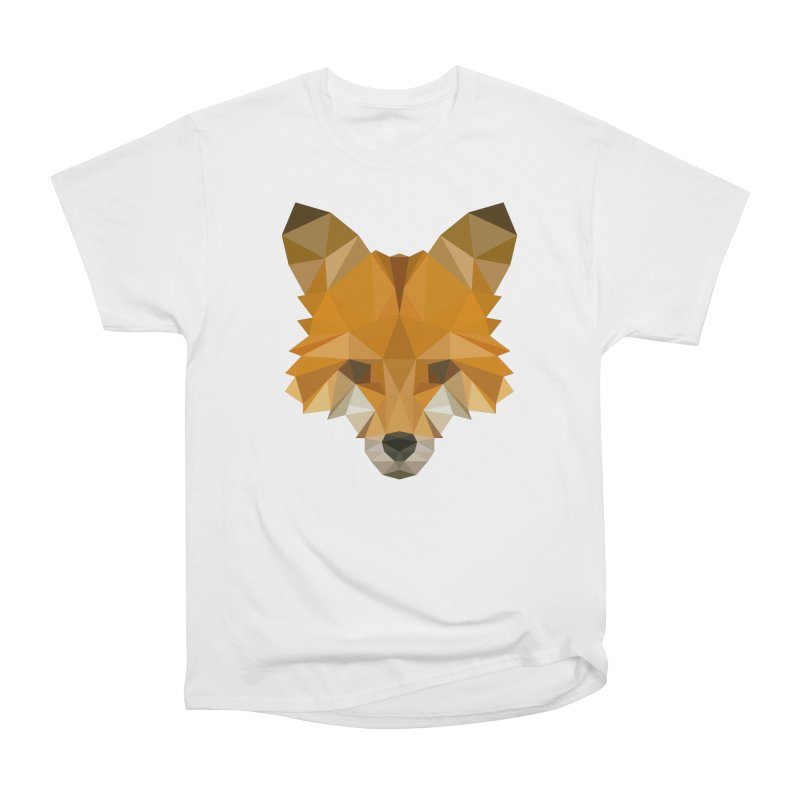 Low poly fox Men's Heavyweight T-Shirt by Origami Studio