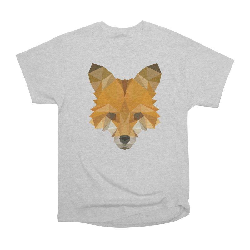 Low poly fox Women's Heavyweight Unisex T-Shirt by Origami Studio