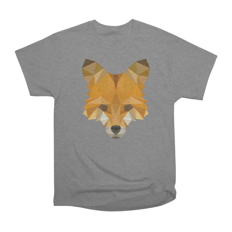 Low poly fox Men's Heavyweight T-Shirt by Origami Studio