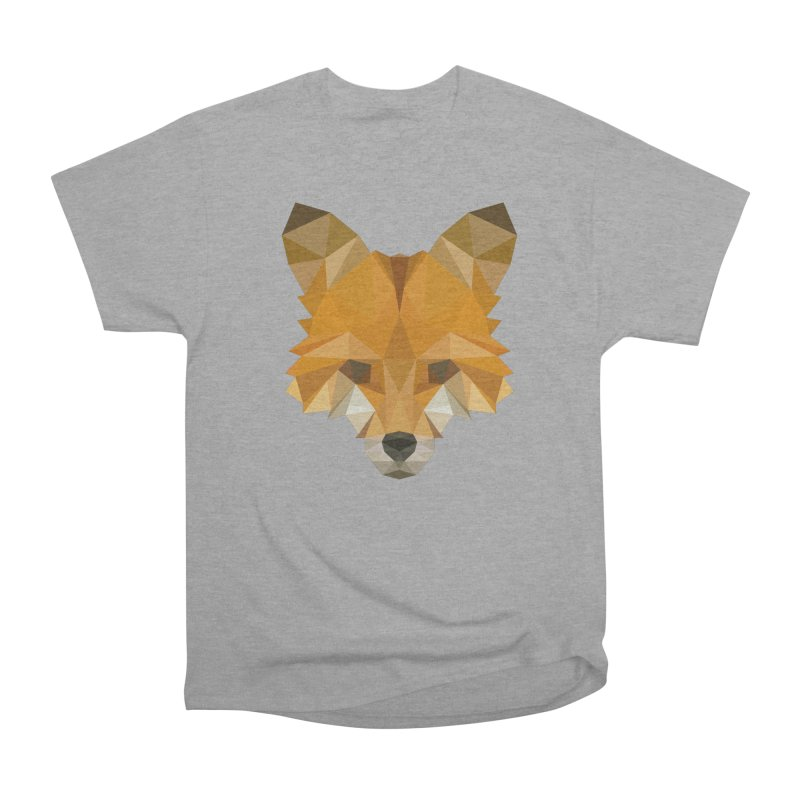 Low poly fox Women's Heavyweight Unisex T-Shirt by Origami Studio