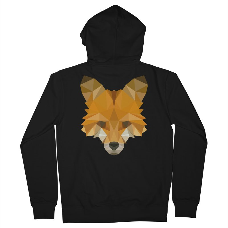 Low poly fox Women's French Terry Zip-Up Hoody by Origami Studio