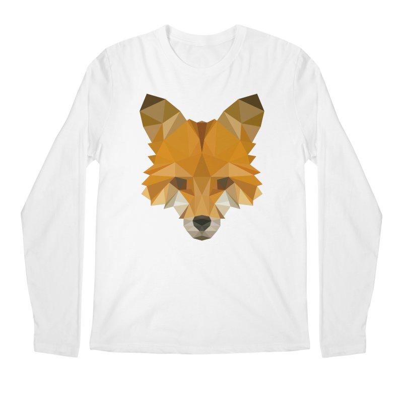 Low poly fox Men's Regular Longsleeve T-Shirt by Origami Studio