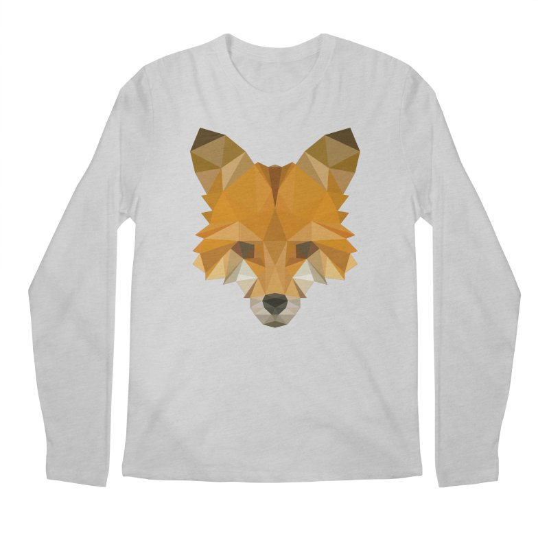 Low poly fox Men's Regular Longsleeve T-Shirt by Origami Studio