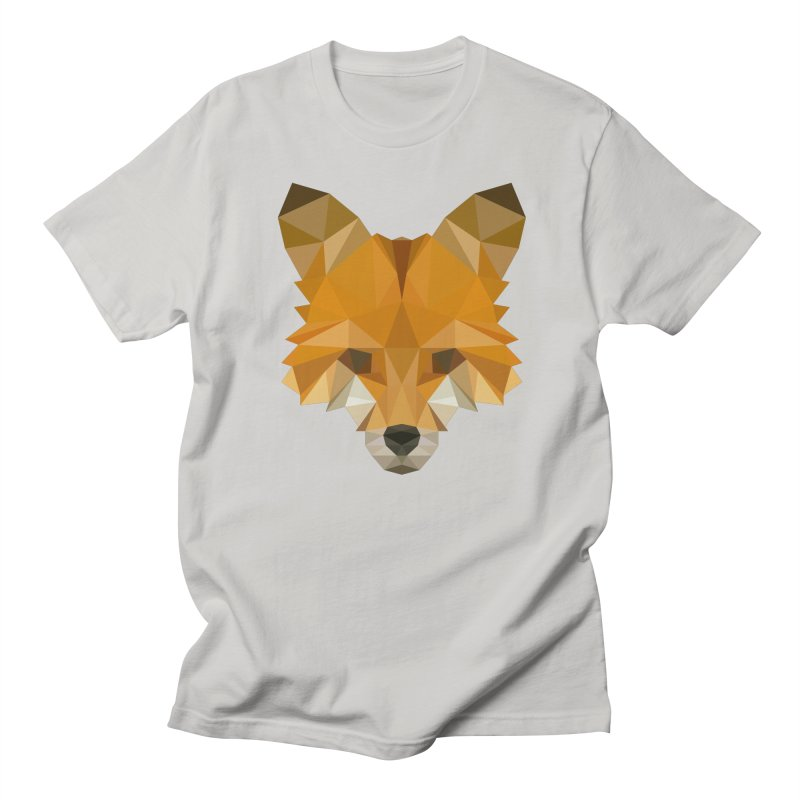 Low poly fox Women's Regular Unisex T-Shirt by Origami Studio