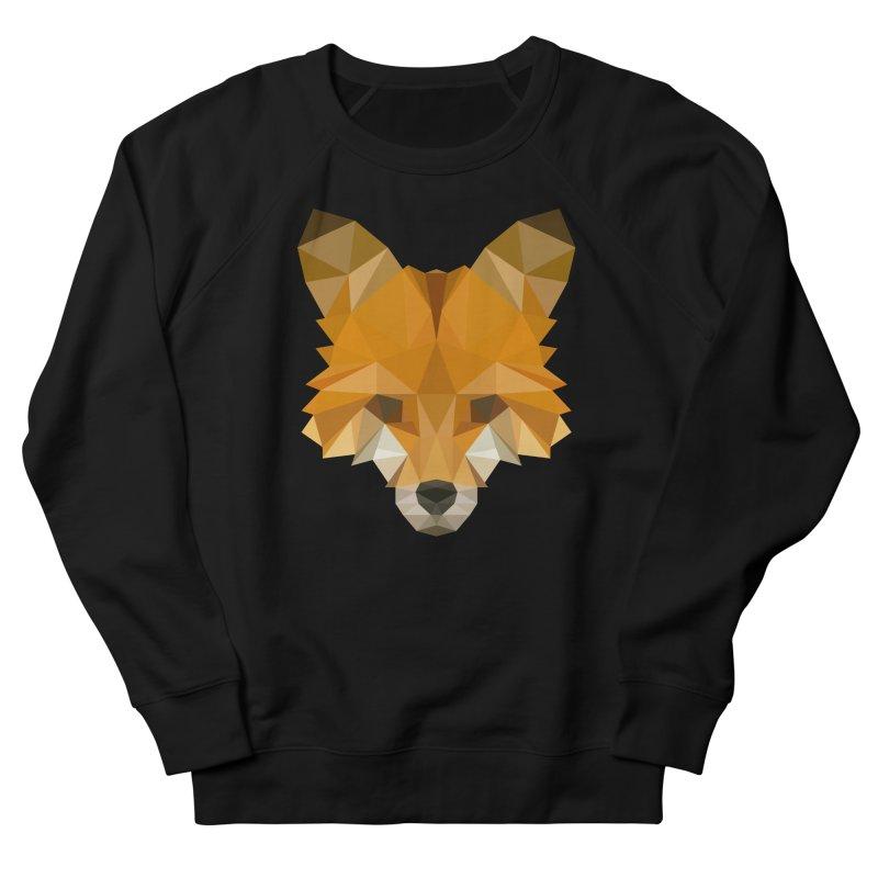 Low poly fox Women's French Terry Sweatshirt by Origami Studio