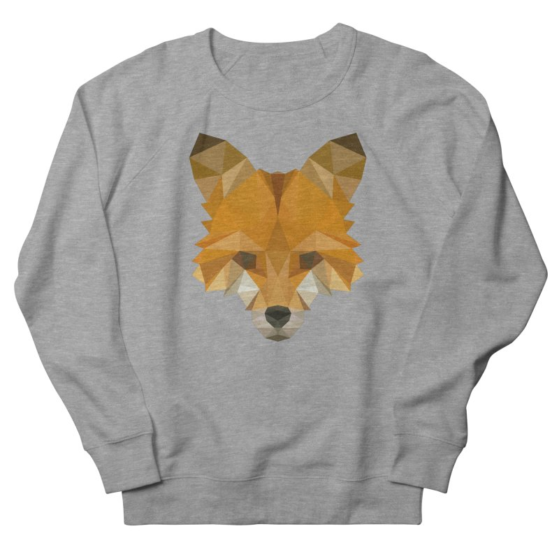 Low poly fox Men's French Terry Sweatshirt by Origami Studio