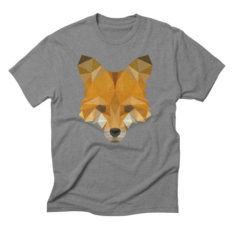 Low poly fox Men's Triblend T-Shirt by Origami Studio