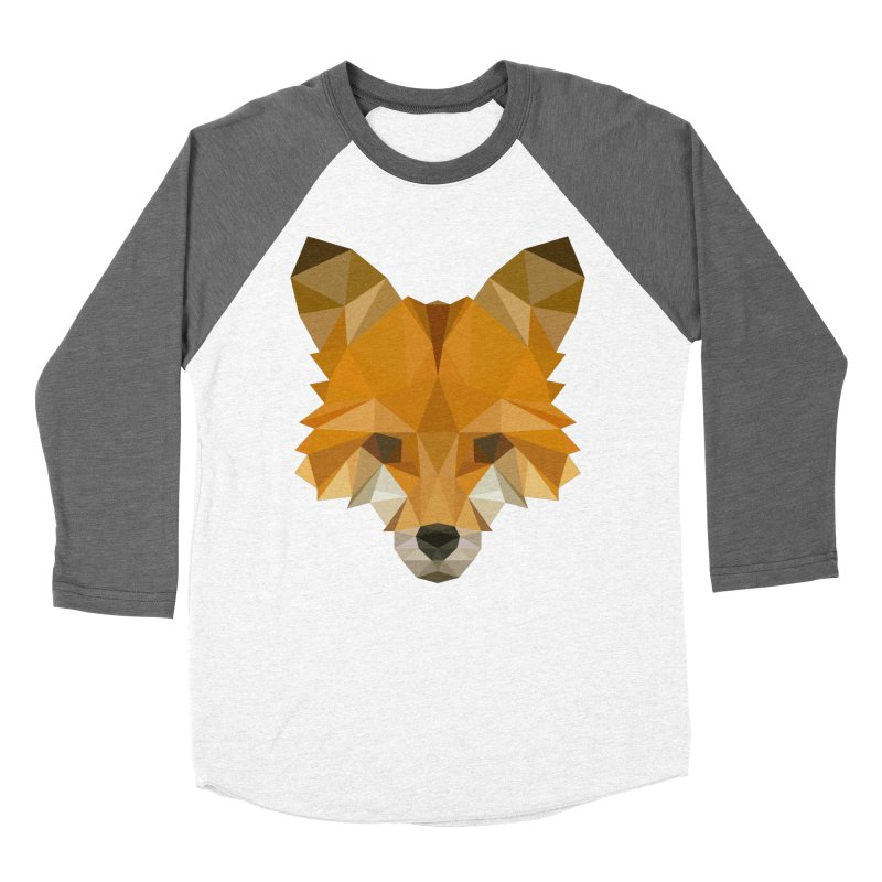 Low poly fox Men's Baseball Triblend Longsleeve T-Shirt by Origami Studio