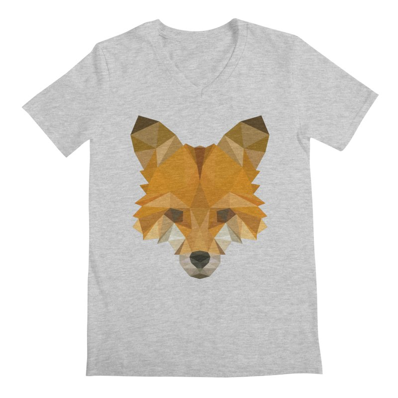 Low poly fox Men's Regular V-Neck by Origami Studio