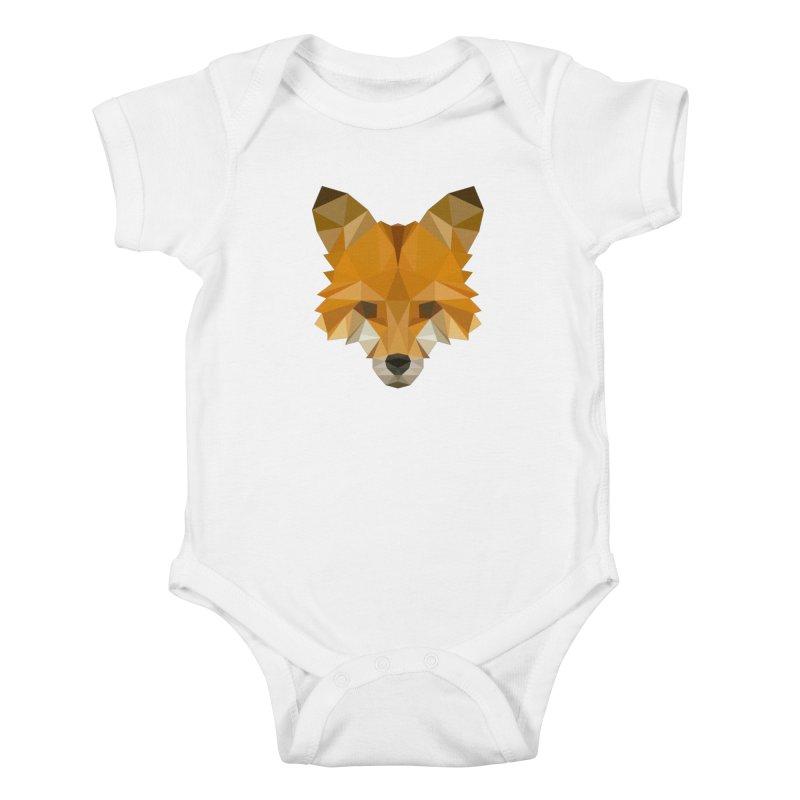 Low poly fox Kids Baby Bodysuit by Origami Studio
