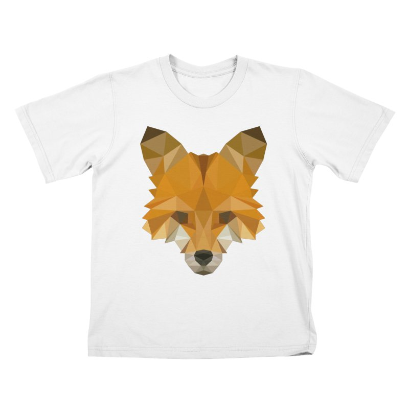 Low poly fox Kids T-Shirt by Origami Studio