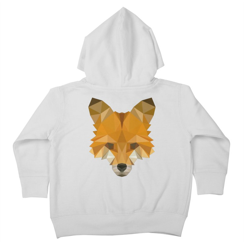 Low poly fox Kids Toddler Zip-Up Hoody by Origami Studio