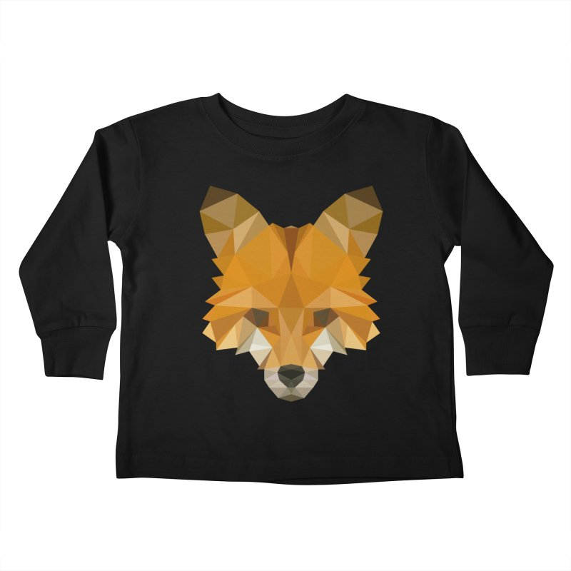 Low poly fox Kids Toddler Longsleeve T-Shirt by Origami Studio