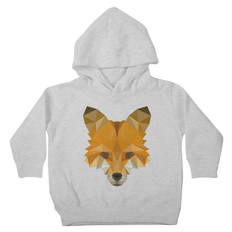 Low poly fox Kids Toddler Pullover Hoody by Origami Studio