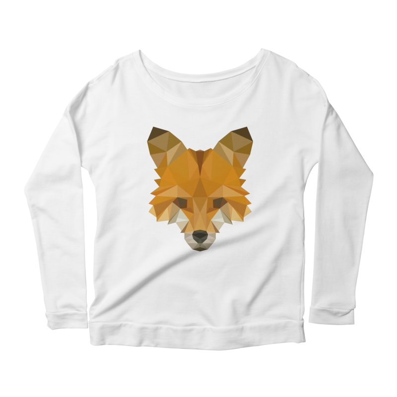 Low poly fox Women's Scoop Neck Longsleeve T-Shirt by Origami Studio