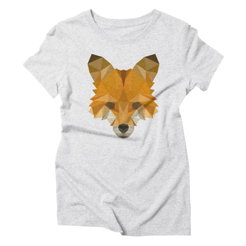 Low poly fox Women's Triblend T-Shirt by Origami Studio
