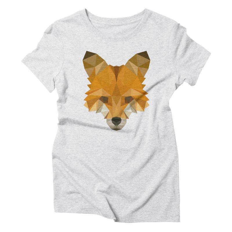Low poly fox Women's T-Shirt by Origami Studio