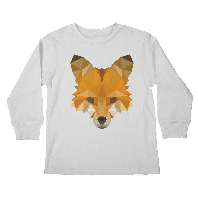 Low poly fox Kids Longsleeve T-Shirt by Origami Studio