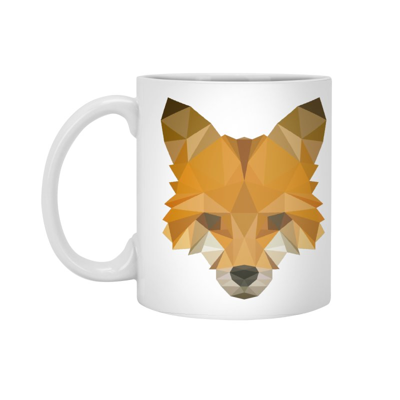 Low poly fox Accessories Standard Mug by Origami Studio